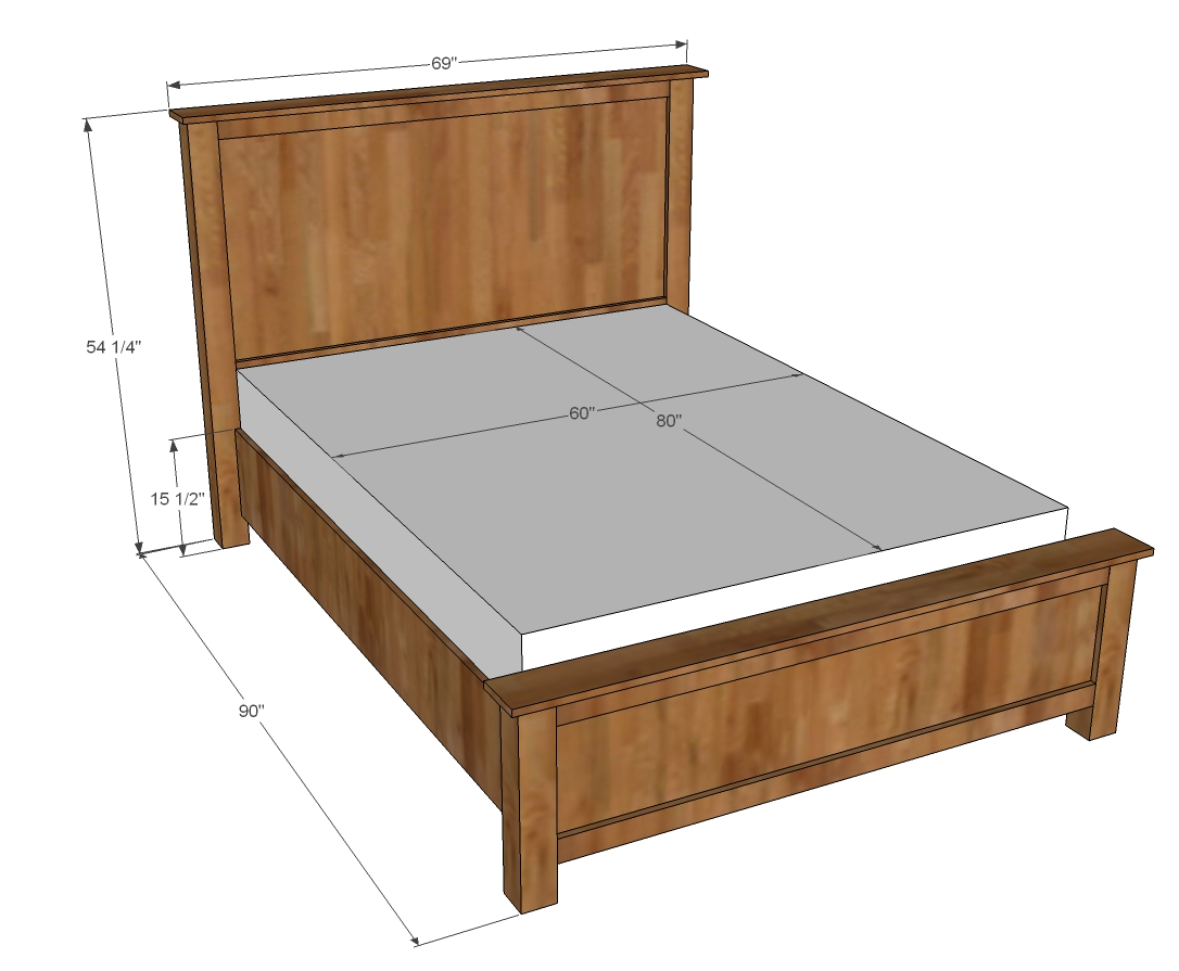 Bed Design Plans Queen Bed Plans Bed Plans Diy And Blueprints