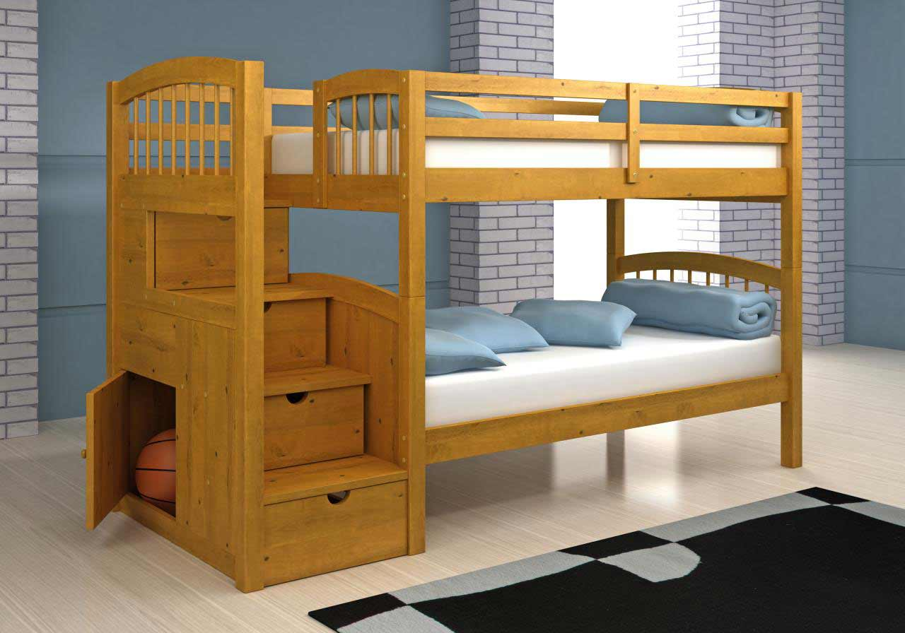 Building A Bunk Bed With Stairs Make Your Own Wooden Bunk Bed Quick Woodworking Projects