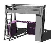 Loft Bed Plans With Desk | BED PLANS DIY & BLUEPRINTS