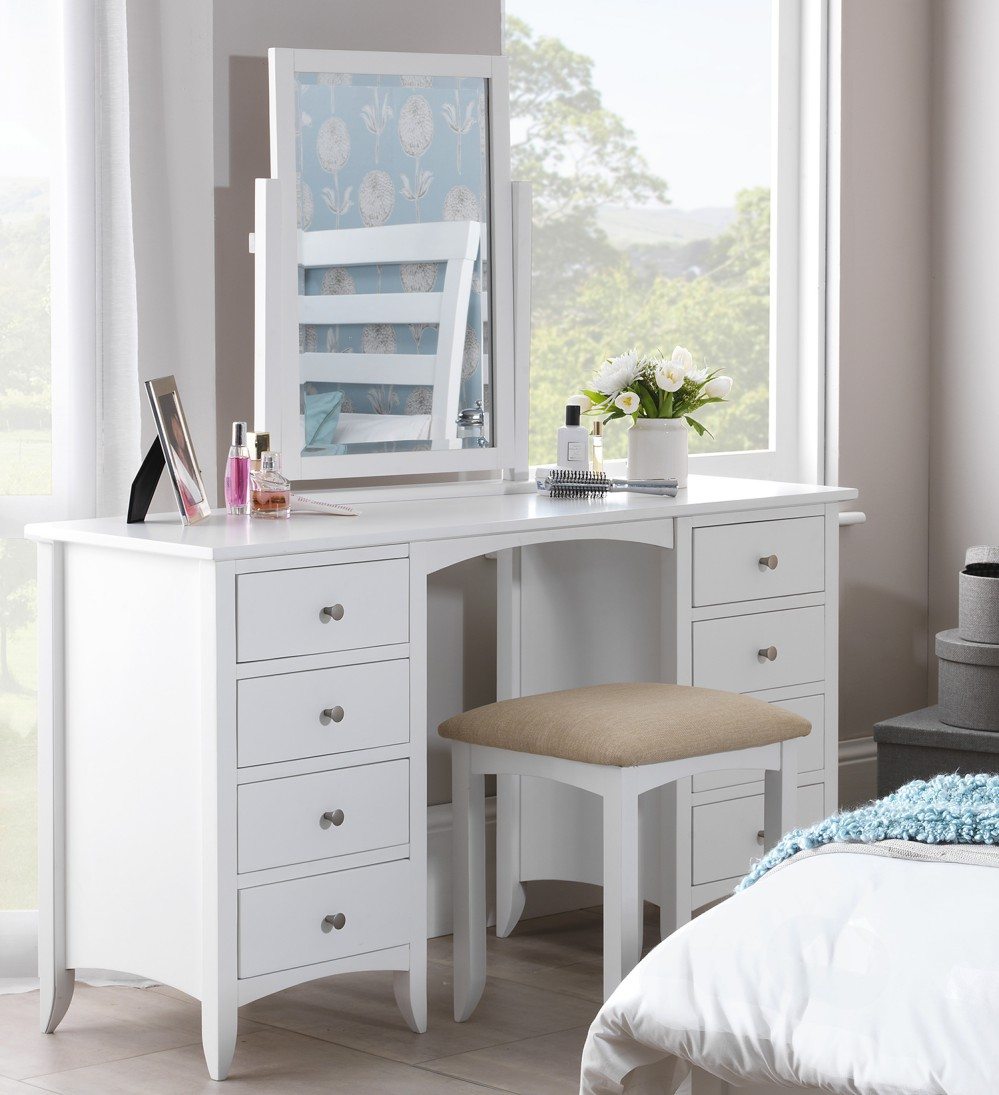 Miroir Maquillage Lumineux Ikea Edward Hopper White Dressing Table,partially Assembled