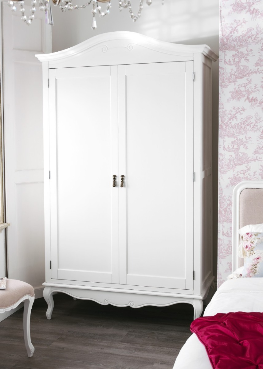 Wardrobe Assembly Juliette Shabby Chic White Double Wardrobe.stunning Large