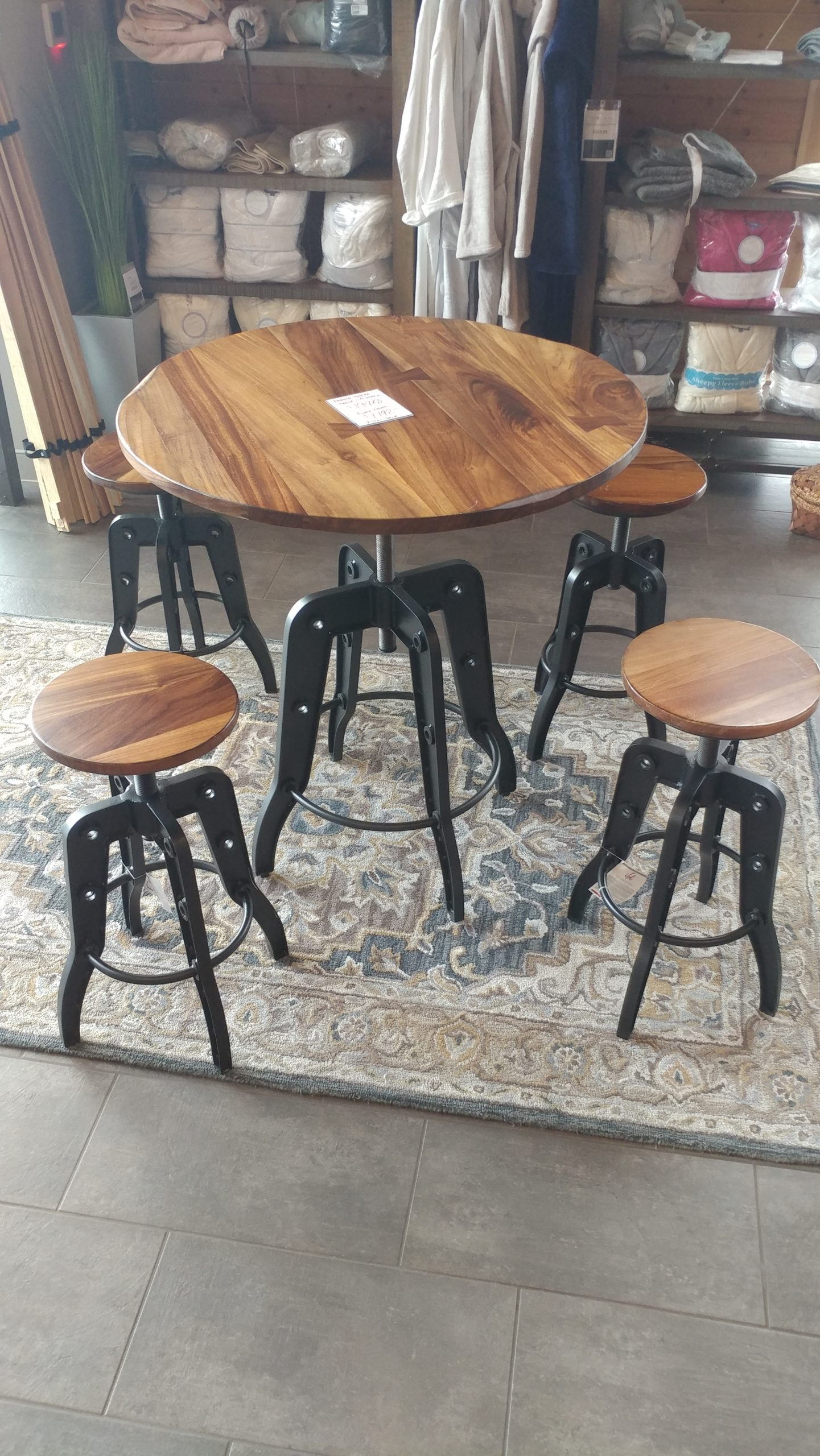 Parota Bistro Table W 4 Stools Bedrooms More Seattle