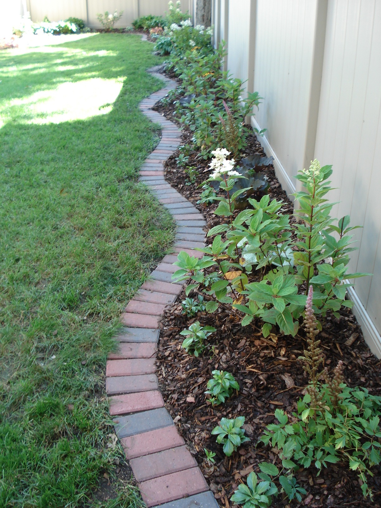 brick edging traditional 4 x 8 clay bricks create an