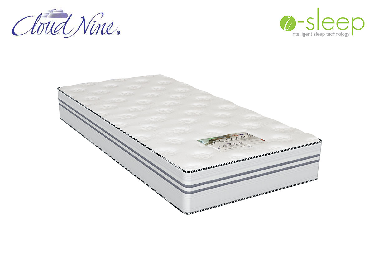 Single Mattress Length Cloud Nine Epic Comfort Single Mattress Extra Length