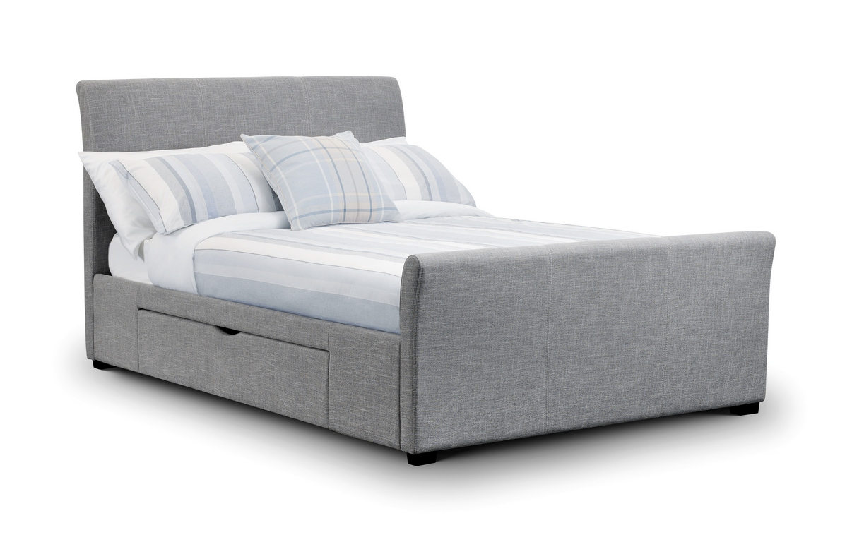 Double Bed With Drawers Julian Bowen Capri 4ft6 Double And 5ft King Size Grey