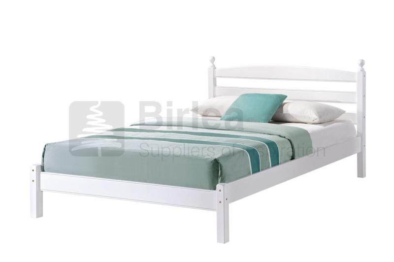 Birlea Oslo 4ft Small Double White Wooden Bed Frame Beds