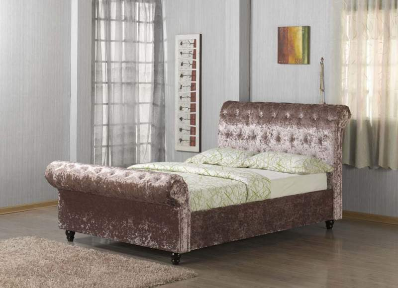 Discount Beds Pandora Sleigh Bed - Bf Beds - Cheap Beds - Leeds.