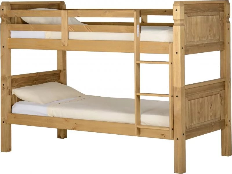 Goedkoop Stapelbed Waxed Pine Bunk Beds - Corona - Bf Beds, Leeds, Cheap Beds