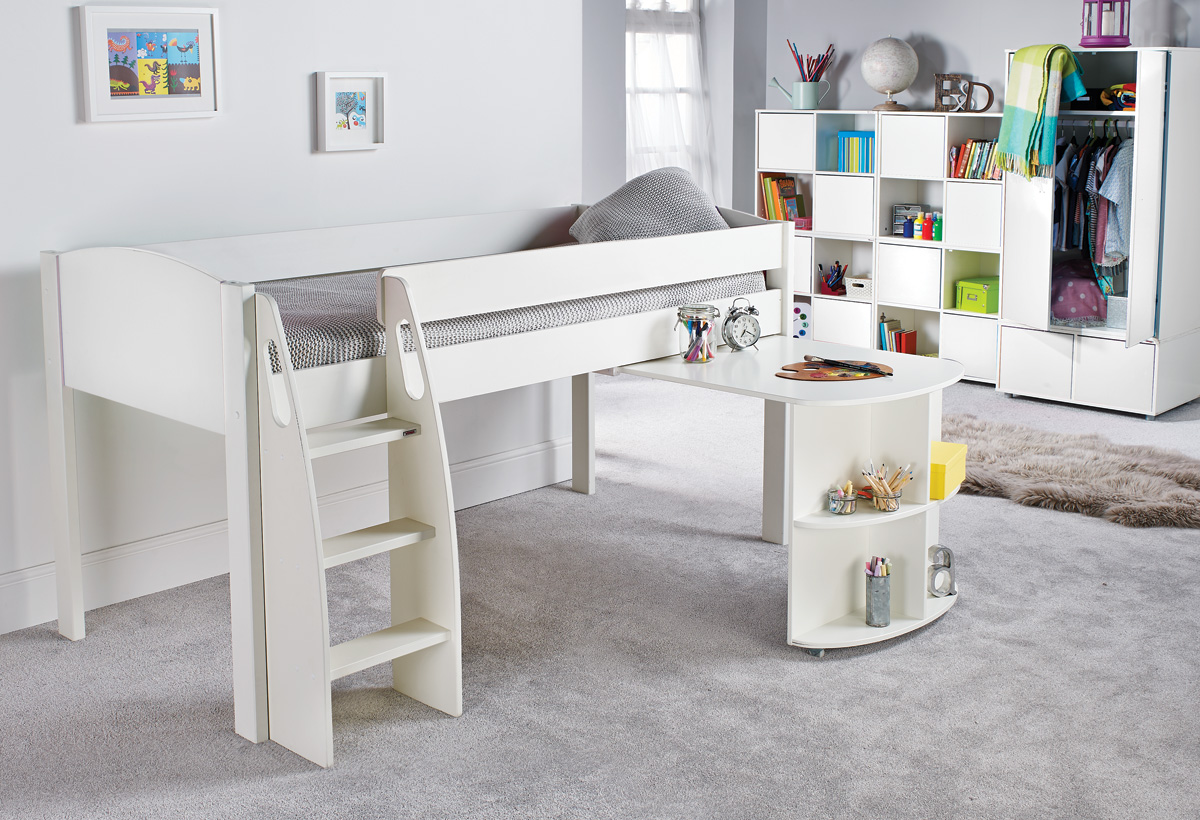 Cabin Bed With Pull Out Desk Stompa Uno S Midsleeper 43 Pull Out Desk