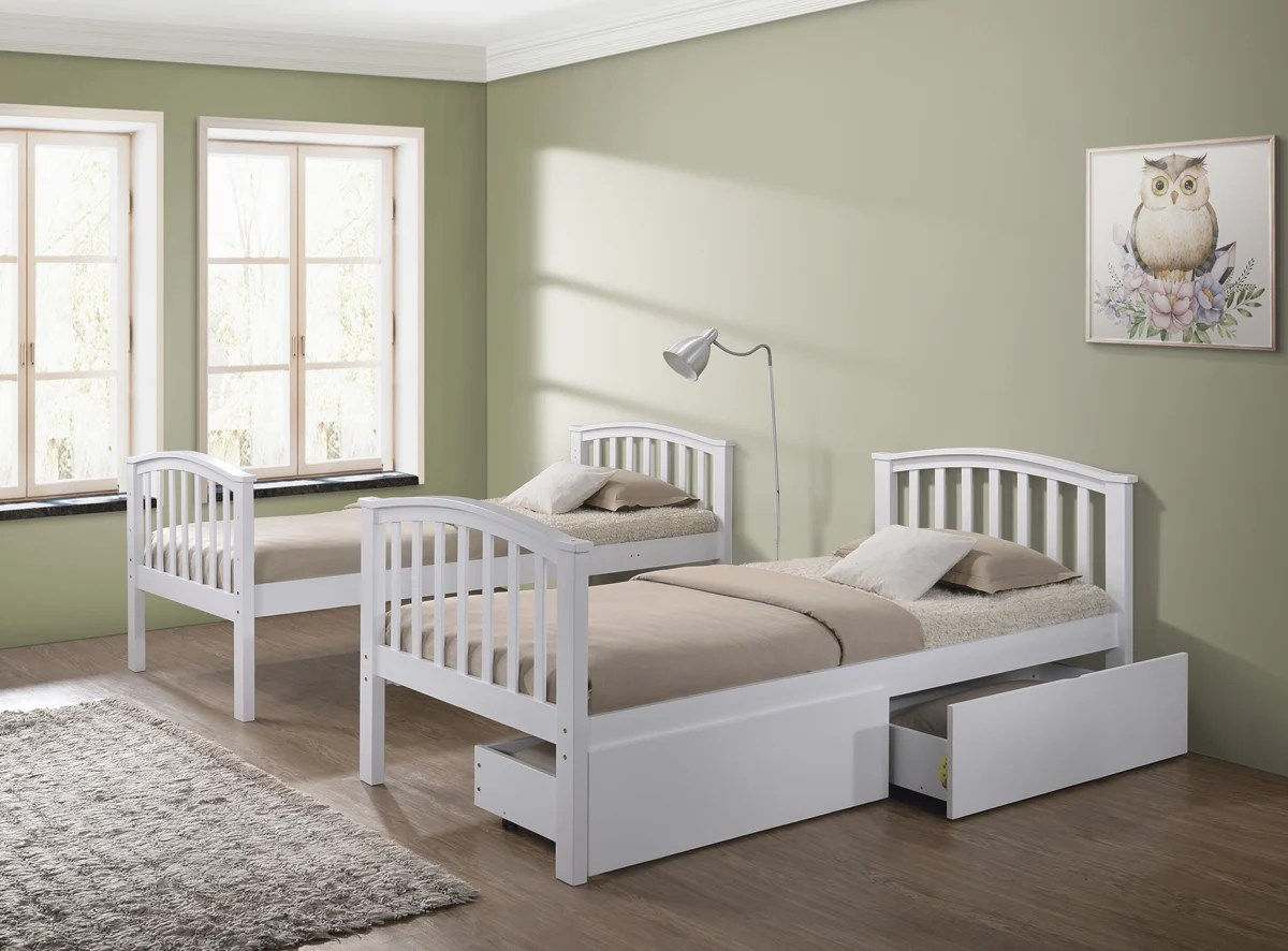White Wooden Bunk Beds Artisan White 3ft Single Wooden Bunk Bed