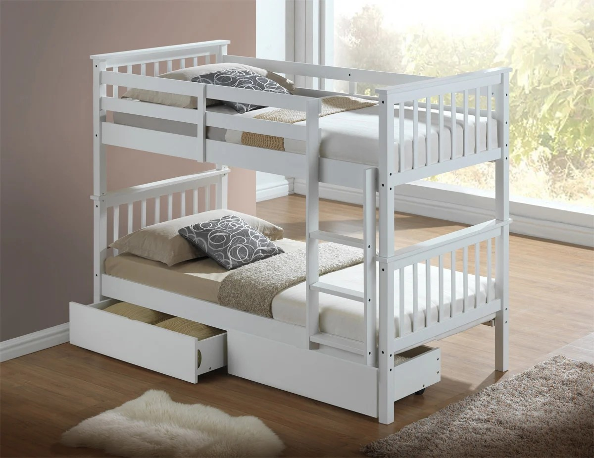 White Wooden Bunk Beds Artisan New Wooden Bunk Bed White