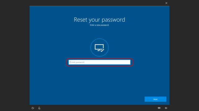 Reset Password Windows Microsoft