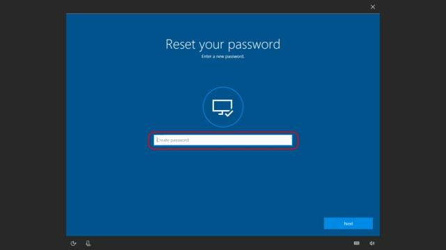 Reset Password Windows Microsoft