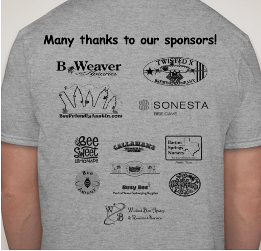 Events bee friendly austin for Sponsor t shirt design