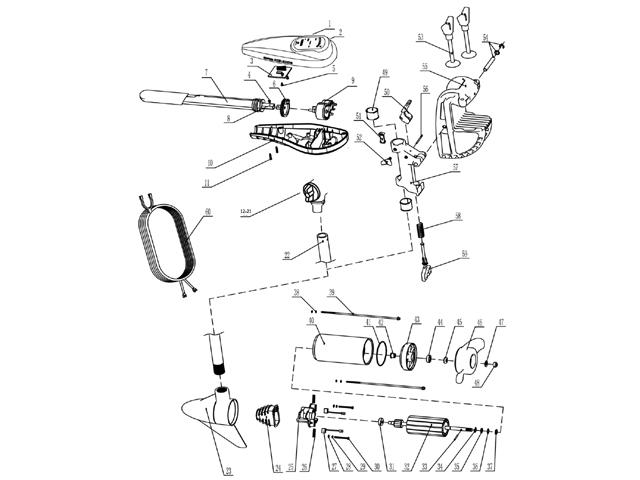 boat motor bedradings schema