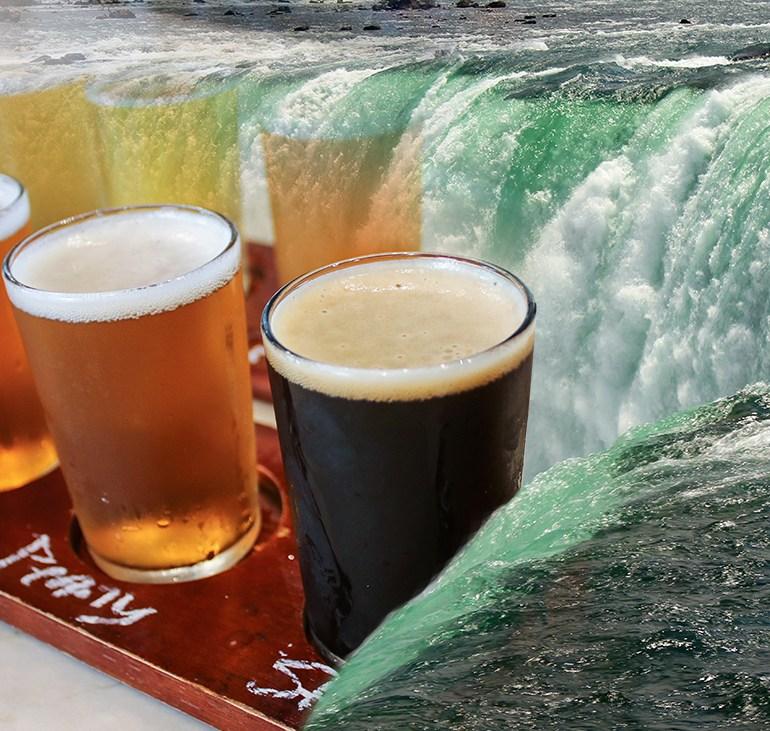 Drinking in Niagara Falls