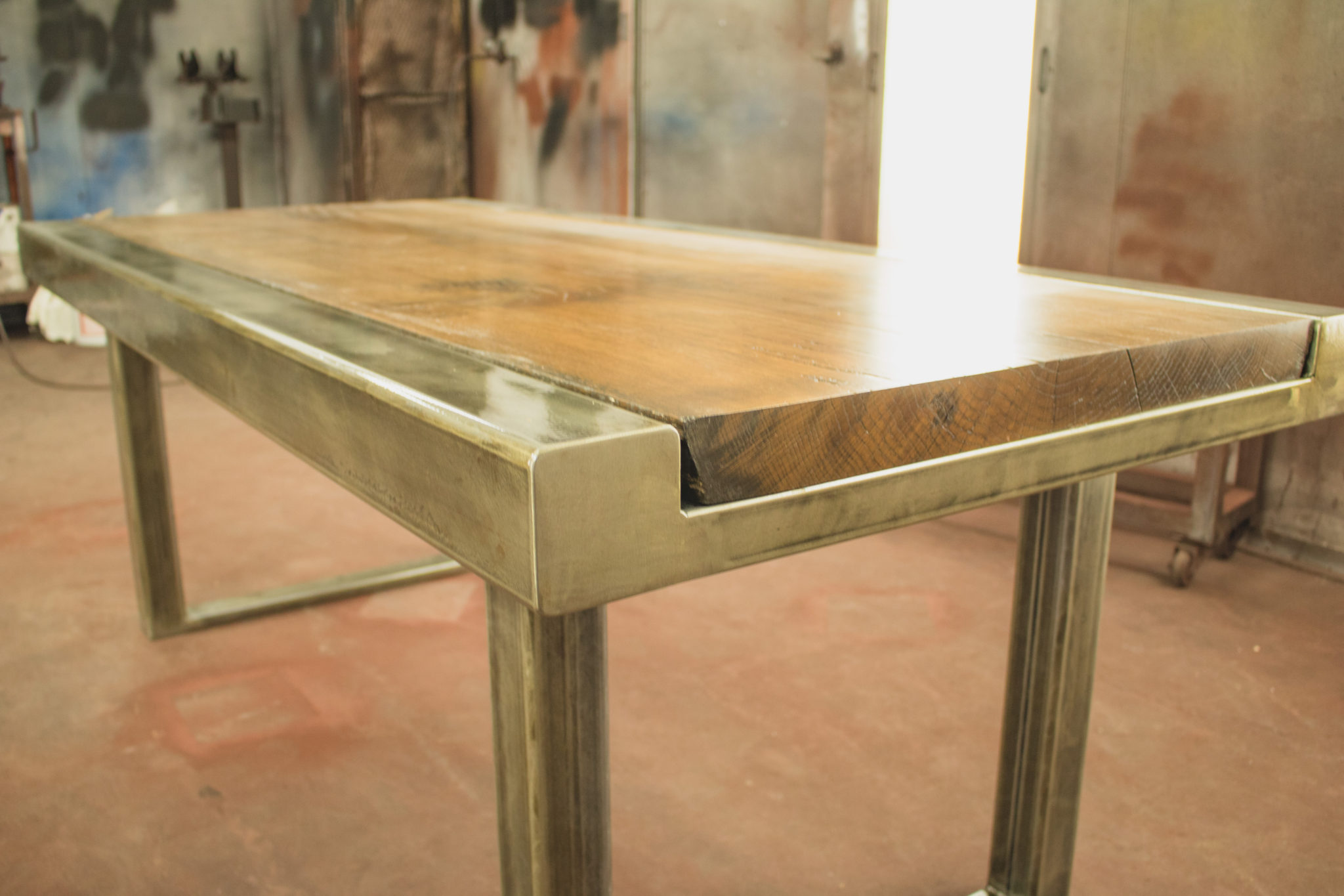 Metal Table Custom Dining Table Beer City Metal Works Construction Grand