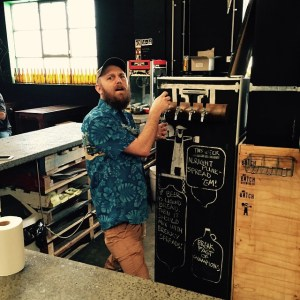 This is John, he knows his beer stuff, and runs the tasting for for Batch.