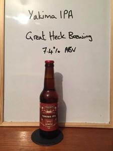 Yakima IPA, Great Heck Brewing Company, 7.4% ABV