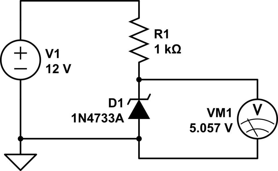 transistor buffer for zener diode voltage regulator