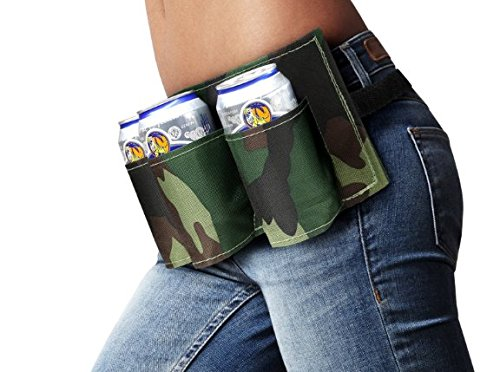 Portable 6 Pack Beer Soda Can Holster Drink Bag Party