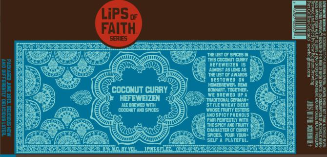 New Belgium Lips of Faith Coconut Curry