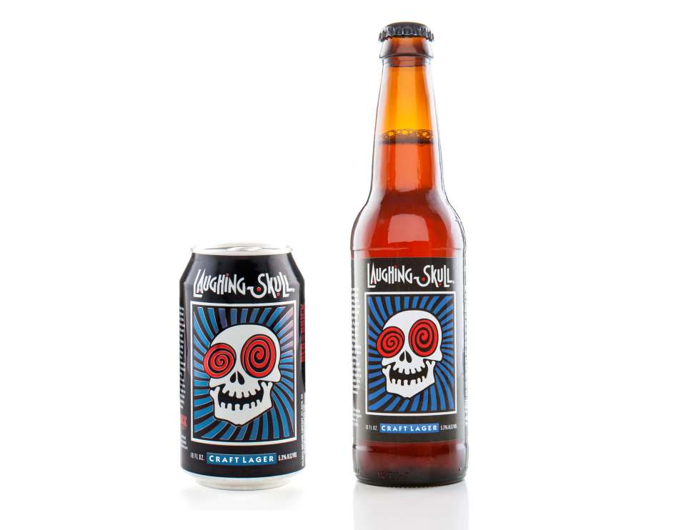Red Brick Laughing Skull Craft Lager