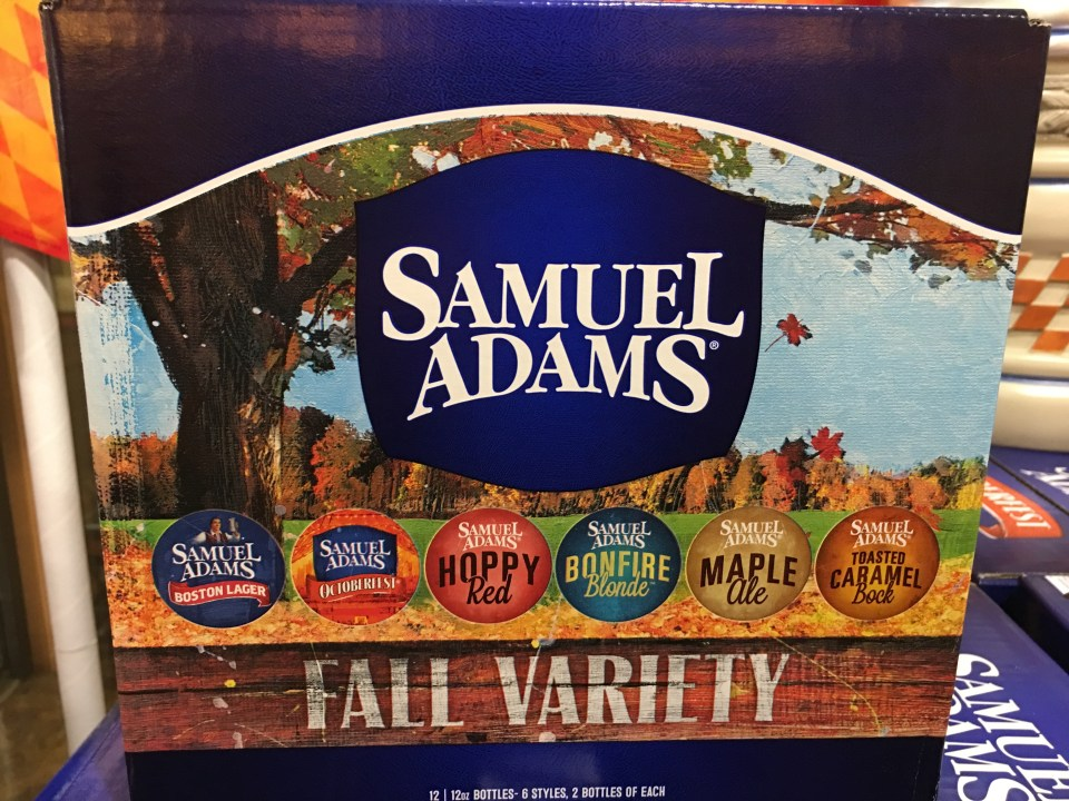 Sam Adams Fall Variety Pack 2016