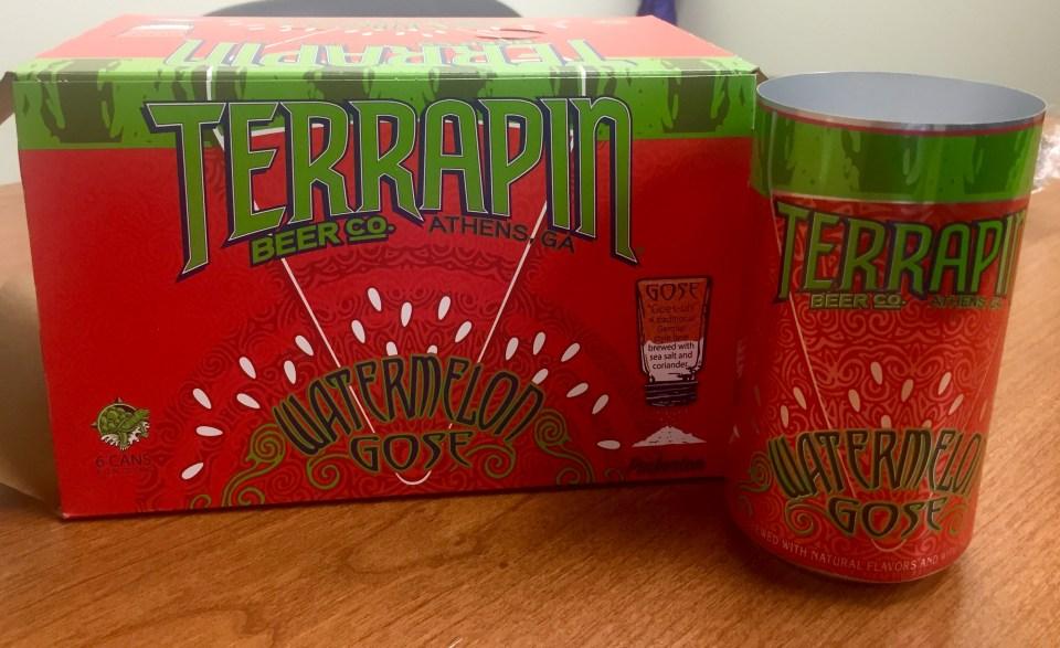 Terrapin Watermelon Gose can proof