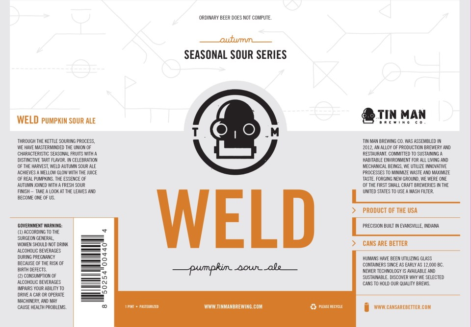 Tin Man Brewing Weld Pumpkin Sour