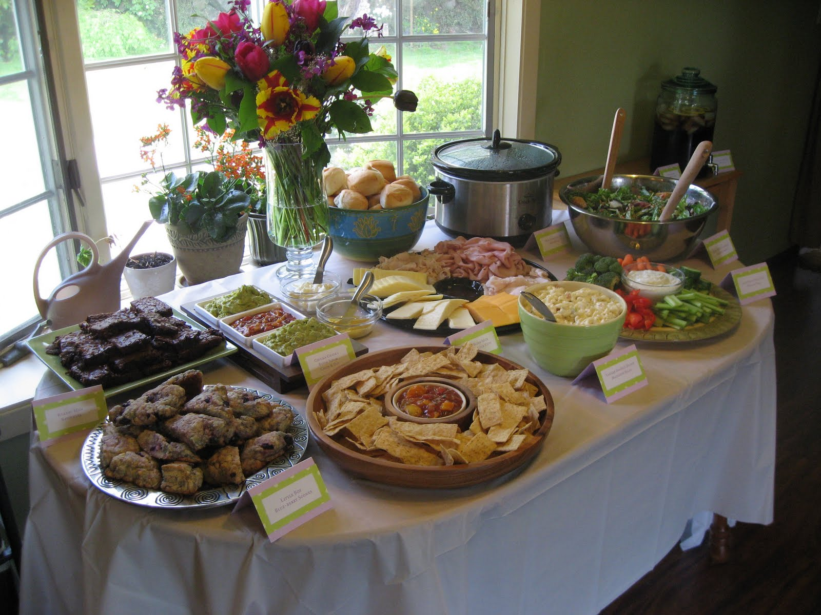 Table Snack Cuisine Creative Ideas To Consider Baby Shower Menu Free