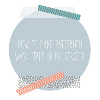 DSPS Blog Hop: How to Make Patterned Washi Tape in Illustrator {video tutorial}