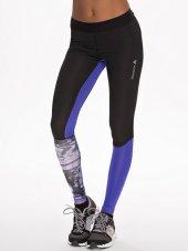 print zwart paars sportbroek strak tight - nlysport collectie - workout gear - trendy sportkleding - be fit and fashionable