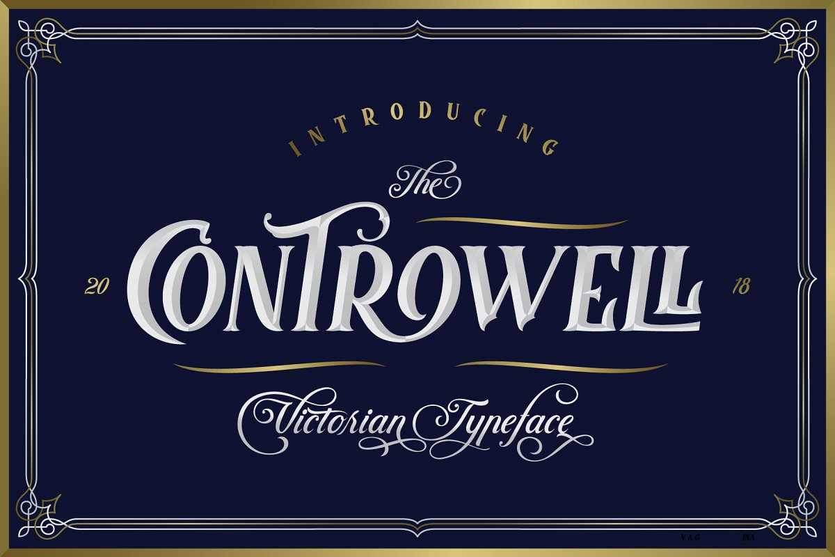 Calligraphy Fonts Victorian Controwell Victorian Typeface Befonts