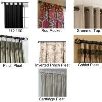 DIY Hidden Tab Curtains