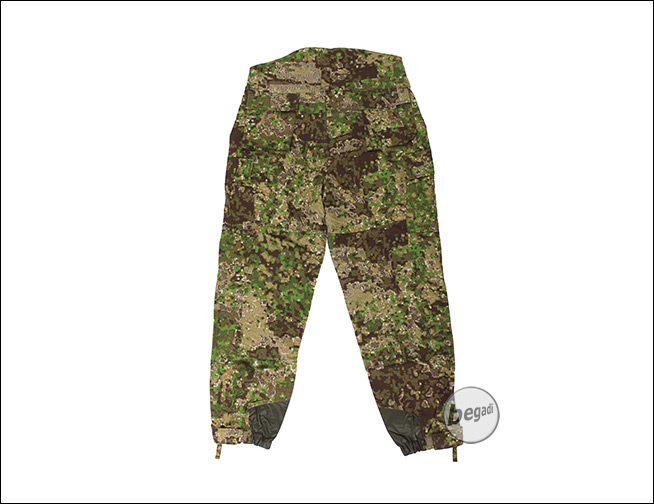 Weite Hose Sommer Be-x Frontier One Windproof Softshell Hose, Pencott Greenzone