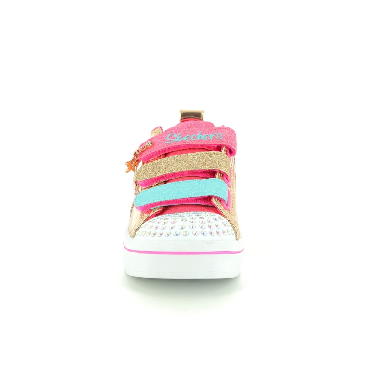 Egg Pram In Rose Gold Skechers Twi Lites 10981 Rsgd Rose Gold Trainers