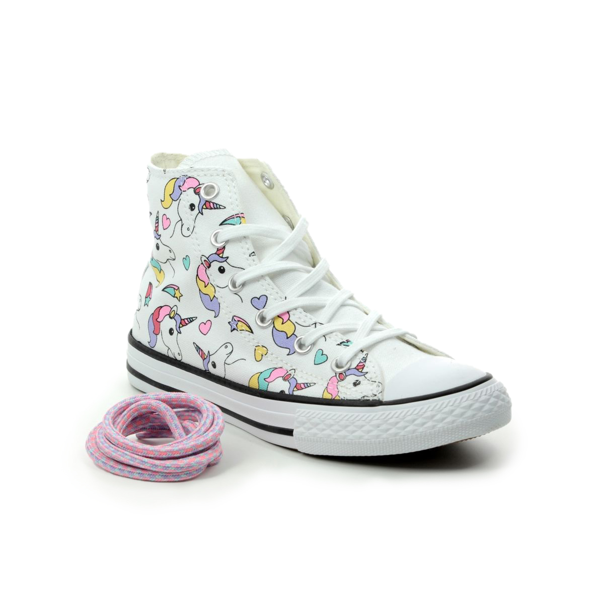 Baby White Converse Pram Shoes 663994c Unicorn Hi Top
