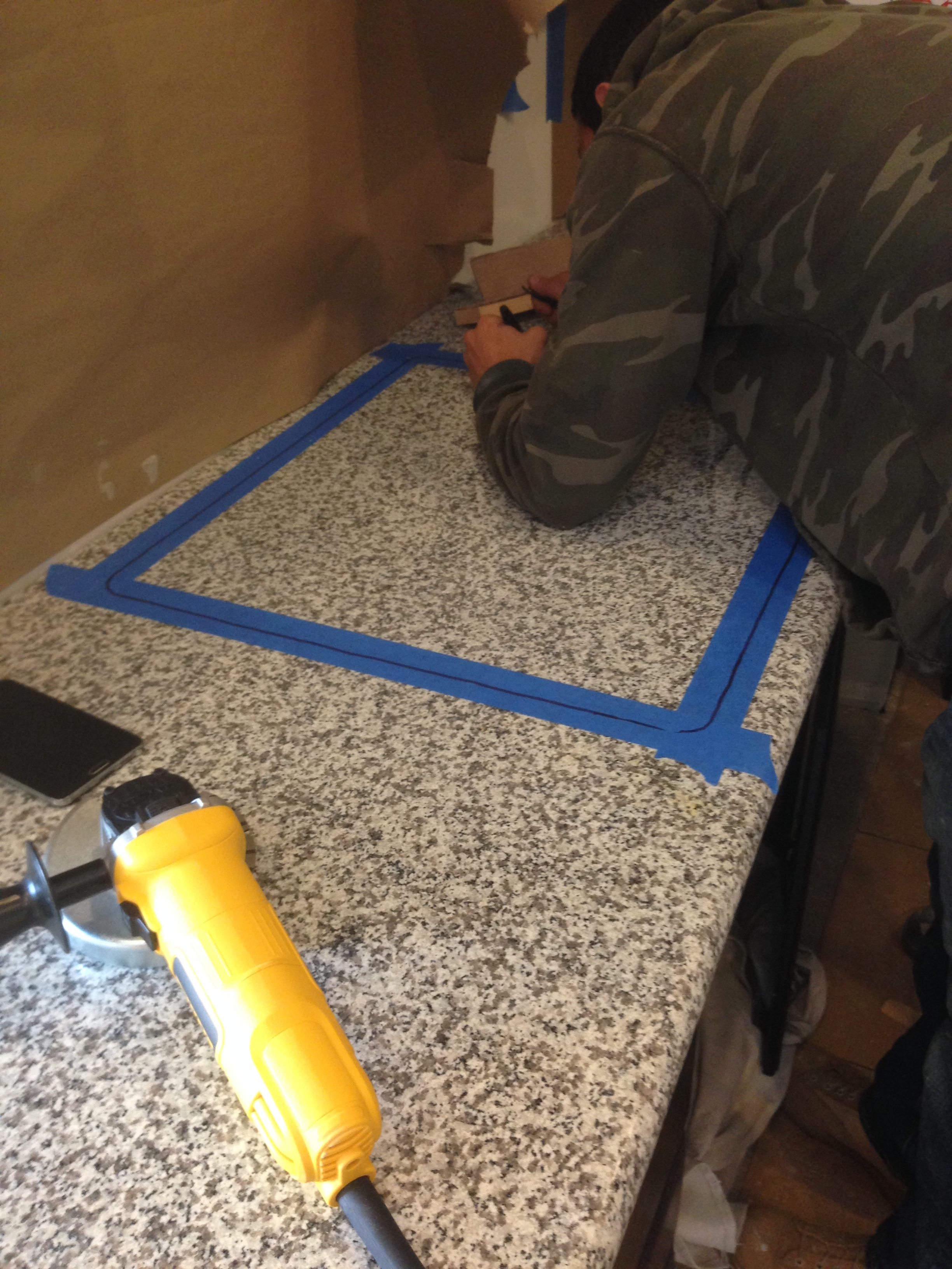 How To Grind Granite Countertops How We Diy 39d Our Way To Real Granite Countertops