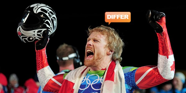 Canadian Skeleton Gold medalist Jon Montgomery - by Shaun Botterill/Getty Images