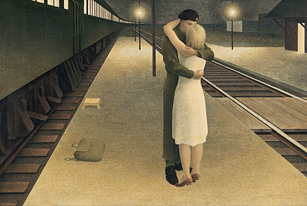 alex_colville_1953_soldier_and_girl_at_station