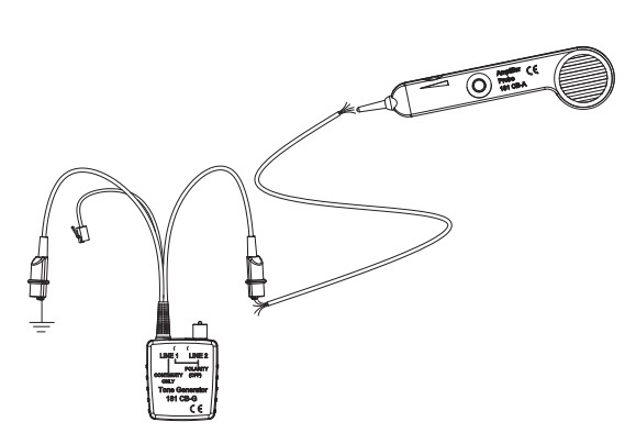 cable wire tracer tone generator and amplifier probe set