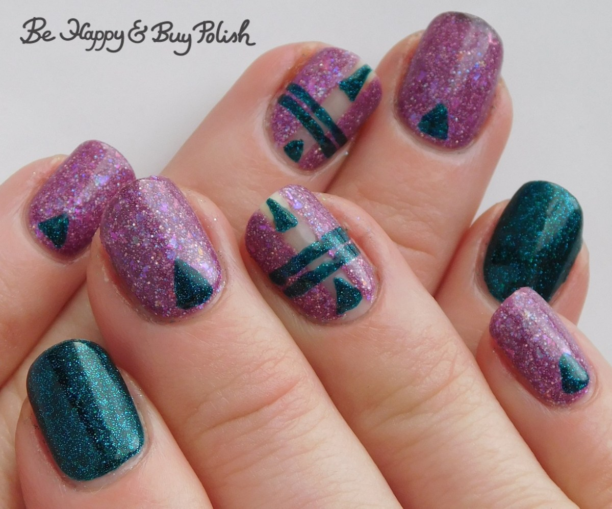 Thermal Triangle And Stripe Manicure With Polish M And
