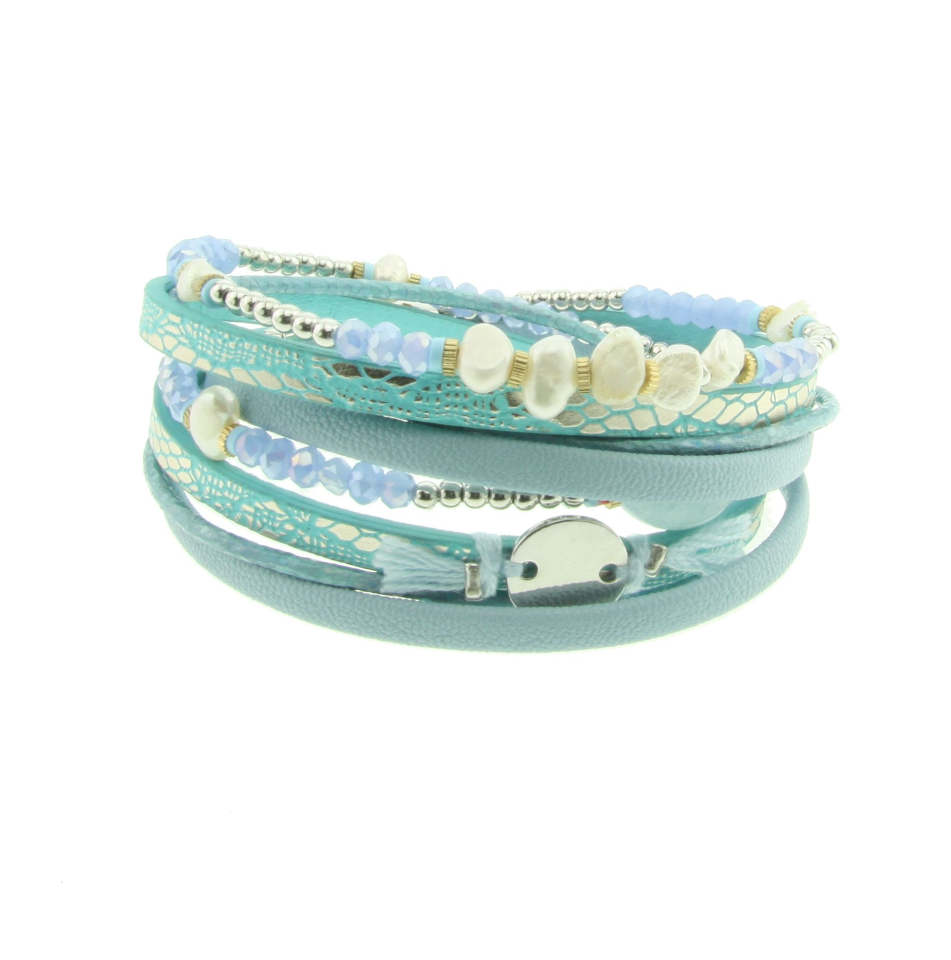 Magneet Armband Magneet Armband Blue Pearl Behave Sieraden Mode