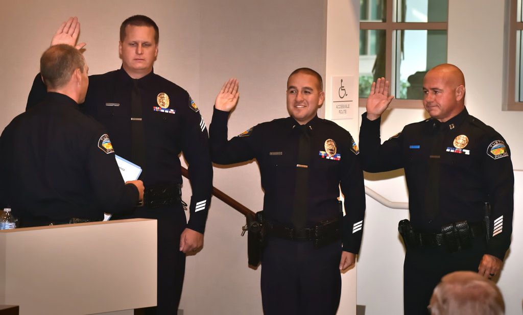 Tustin PD celebrates five new hires and three promotions at ceremony