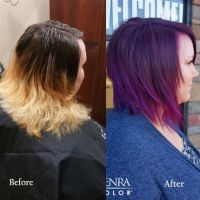 what haircolor formula will make ruby plum vibrant plum