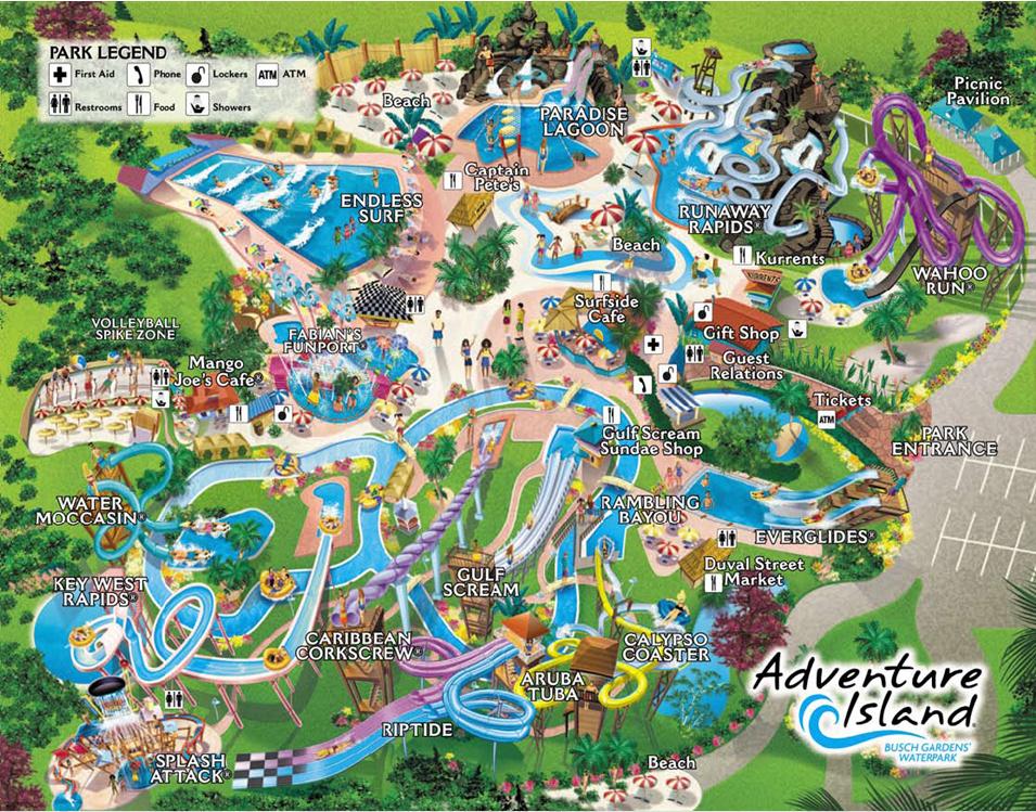 Adventure Island Map