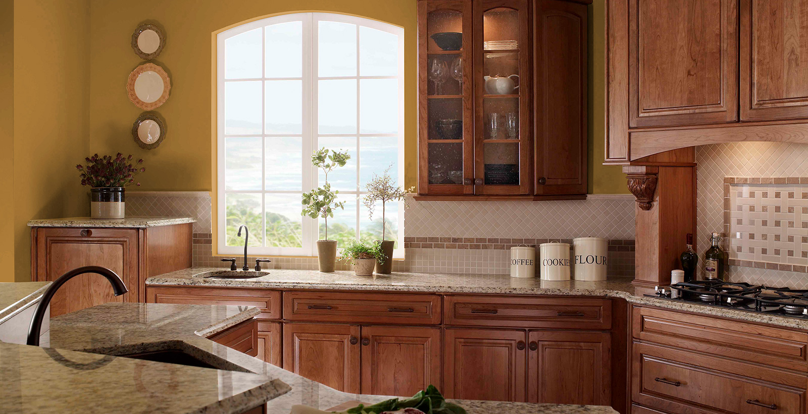 Old Fashioned Kitchen Yellow Kitchen Gallery Behr