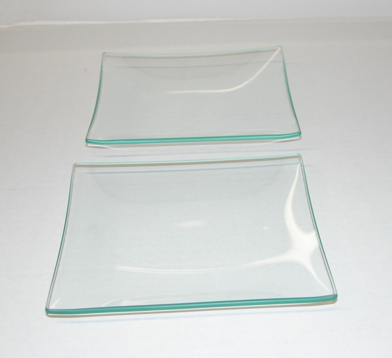 Square Plates 10 Quot Square Clear Glass Plate