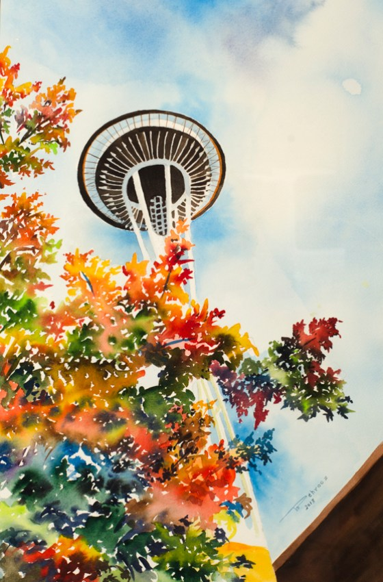 BEHR Gallery Art summer seattle wa USA watercolor by behrooz bahadori